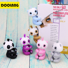 DOOLNNG Fingertip Panda Smart Touch Induction Pet Toys Interactive Fun Fingertip Toy Cute Hanging Puppet Like Finger Monkey(China)