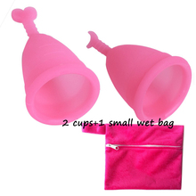 Soft Medical Grade Silicone Menstrual Cups Good Quality Period Cups With One Small wet bag(China)