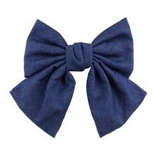 High Quality New 2017 Fashion children Hair Accessories For Women Korean Style Silk Hair Clip grils blue euro style(China)