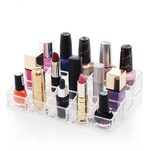 1 Pcs Acrylic Comestic Makeup Organizer Storage Box Jewelry Nail Polish Cases Lipstick Holder Display Transparent Hot Wholesales
