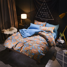 Sookie Luxury European Style Bedding Set Floral Print Bed Linen Twin Full Queen King Size Bedclothes 3pcs Duvet Cover Sets(China)