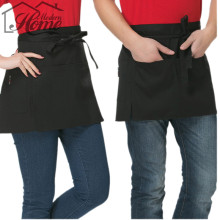 Kitchen Cooking Hotel Chef Aprons Chef Uniforms Waist Apron Short Apron Waiter Apron With Double Pockets Black Universal Unisex