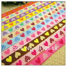YJHSMY 10mm LOVE printed grosgrain ribbon,Clothing accessories accessories, wedding gift wrap ribbon,MD33191