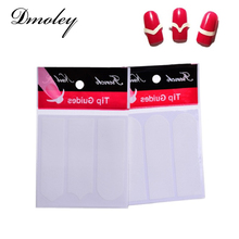 Dmoley 8 Styles Nails Sticker Nail Art Decals French Manicure Form Fringe Tips Guide DIY Styling Beauty Tools(China)
