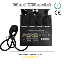 Stage Light EU Plug 4 Channels DMX 512 Dimmer Pack Dimmable Silicon Box Dimming and Switching Power Amplifier Output 5A(China)