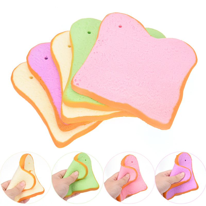 1PCS Fruit Key Ring Little Toast Squishy Keychain Phone Strap Cute Key Ring For Bag Accessories Women Girls
