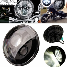 "Black Motorcycle Accessories 7"" Motorcycle Headlight 7Inch High/low Beam Harley Led Headlights For 16-12 Harley Switchback FLD"
