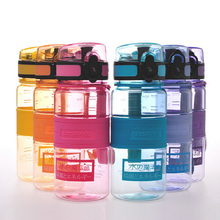 BPA Free Plastic Water Bottle Portable Sport Kettle Colorful SpaceCup Shaker Bottle Tritan Material Four Capacity Available SH62