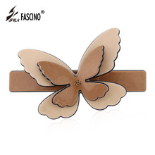 Crystal Rhinestone Butterfly Hair Barrettes Clips Women Girls Fashion Korean PVC Hairpins Animal Hair Accessories (DG810038)