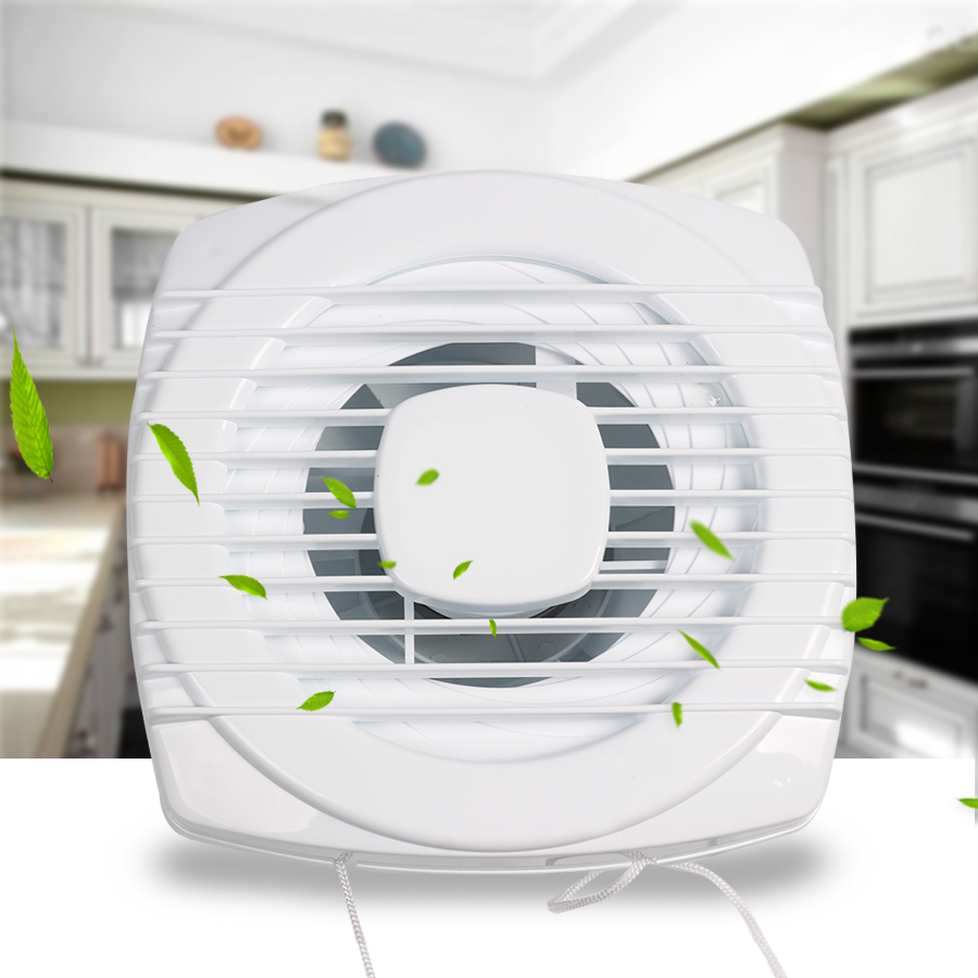 4 inch mini fan white exhaust fan ventilation blower window wall for kitchen bathroom toilet mini