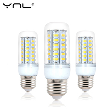 YNL 220V Bombillas LED Lamp Bulb E27 5 24 38 48 56 69LEDs SMD5730 lamparas Lampada de LED High Bright Chandelier Lights