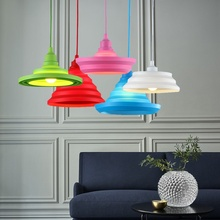 E27 Base Colorful Pendant Lights Wire LED DIY Flexible Shape Silica Gel Edison Bulbs Decor Indoor Ceiling Hanging Pendant Lamp(China)