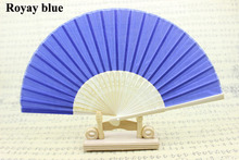 (50 pieces/lot) New Different colors available solid color wedding fans Advertising and promotional hand fans