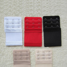 Ladies elastic 3 Hooks Bra Strap Extender hook clip perfect ADJUSTABLE BELT buckle white black red etc(China)