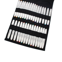 Empty Touch five Marker Storage foldable Carrying Bag Large Capacity for 30/40 /60 PCS Graphic Art Maker Pens or Othere Pencils