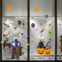Zero 2017  Halloween Static Electricity Removable Wall Stickers Home Room  dropshipping B787