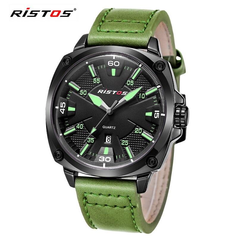 Reloj Hombre 2017 Ristos Fashion Chronograph Sport Mens Watches Top Brand Luxury Military Green Quartz Watches relogio masculino<br><br>Aliexpress