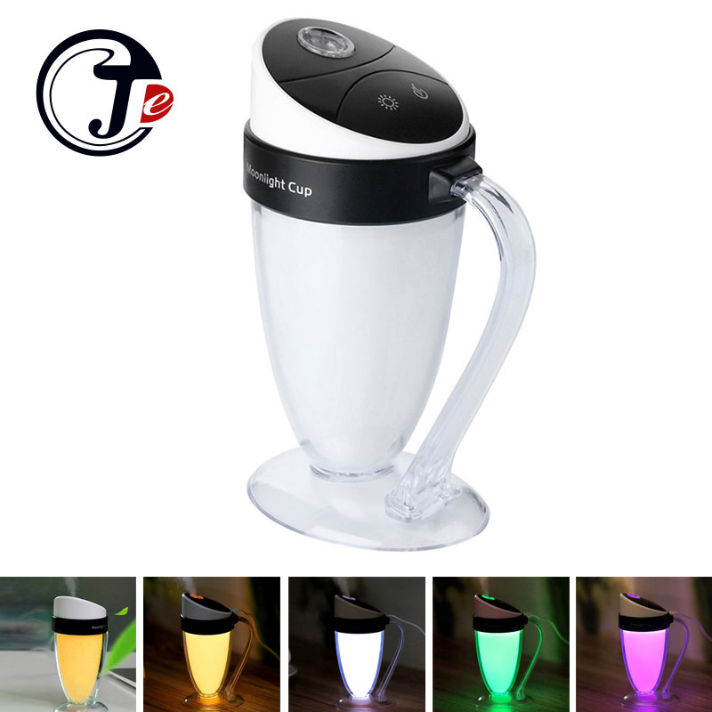 110ML Air Humidifier Ultrasonic Aroma Diffuser Humidifier with Night Light Air Freshener Humidificador Mist Maker Water Fogger<br><br>Aliexpress