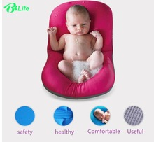Non-Slip Infant NewBorn Baby Bath Pad Bathtub Mat Safety Bath Seat Support Baby Shower Portable Air Cushion Bed Infant