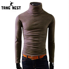 TANGNEST 2017 Men Winter Warm Turtleneck Pullover Thermal Sweater Multi Color Option Solid Design Soft & Warm M-XXL MTL088