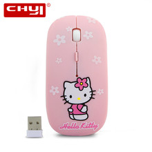 Wireless Mouse Ultra Thin Minion Union Flag Hello Kitty Mouse Spider Web Gaming Mouse 2.4GHz 1600DPI Computer Mice Gifts