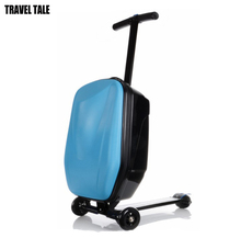 TRAVEL TALE Whole saling Good quality skateboard rolling luggage scooter suitcase on wheels(China)