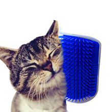 Pet cat Self Groomer Grooming Tool Hair Removal Brush Comb for Dogs Cats Hair Shedding Trimming Cat Massage Device with catnip(China)