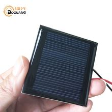 Boguang mini soalr panel 7v 0.2w Epoxy resin module Polysilicon cell for motor pump LED light battery Education Kit charger(China)