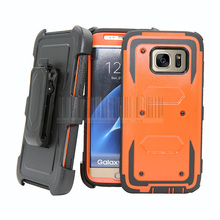 Heavy Duty Armor Rugged Hybrid Shockproof Protective Cover Holster Belt Clip Cases Samsung Galaxy S7 Edge G935 }