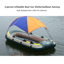 3 Person Inflatables Boat Sun Shelter Awning Sun Shade Rain Cover Fishing Tent for Rowing Boat Kayak Canoe Kit with Hardware