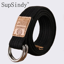2017 new arrival men's canvas belt Alloy buckle military belt Army tactical belts for Male top quality men strap Black Red 115cm(China)