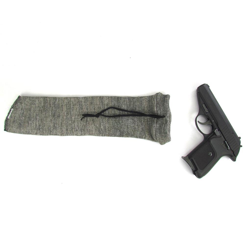 Tourbon-Tactical-Silicone-Treated-Knit-Pistol-Gun-Firearm-Socks-Fishing-Reel-Cover-Gun-Protector-Grey-for