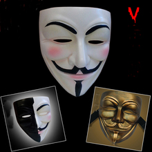 High Quality V For Vendetta Resin Mask Collection Home Decor Halloween Party Cosplay Lenses Anonymous Mask Guy Fawkes(China)