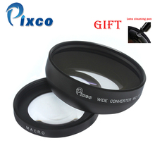 55mm 0.45X Wide Angle Lens with Macro suit For Canon Nikon Pentax Sony Panasonic(Black)+with Lens Cleaning Pen