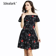 Hot Pink Flower New Spring Summer Plus Size Women Clothing 2017 fashion Floral Print Pattern Cute dresses vestidos WC0472-7