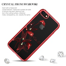 KINGXBAR for iPhone 8 7 4.7 inch Phone Cases Authorized Swarovski Crystal Plating PC Back Cover for iPhone 8 Plus 7 Plus Capa