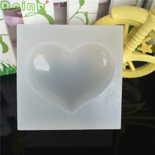 Love Heart Silicone Mold Cake Decoration Fondant Cabochon Candy Pendant Jewelry Casting Resin Molds for Jewelry Making
