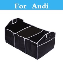 Car Non-Woven Organizer Toys Food Storage Container Bags Box Car Stowing Styling For Audi A4 A5 A6 A3 A7 A8 Q3 Q5 Q7 car styling