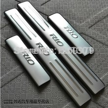 2010 2011 2012 2013 2014 2015 2017 for KIA RIO k2 sedan hatchback stainless steel scuff plate door sill 4pcs/set car accessories