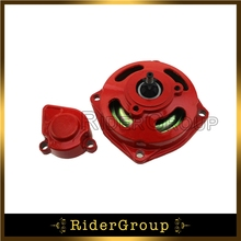 Red 25H 6 Tooth Clutch Drum Gear Box With Cover For 2 Stroke 47cc 49cc Kids Mini Pocket Bike ATV Baja Drif Racing Go Kart Cart(China)