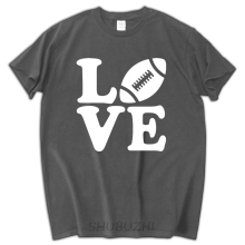 I Love Footballer - Gift for American Footballer Fans T-Shirt Sportser Men T Shirt Print Cotton Short Sleeve T-shirt