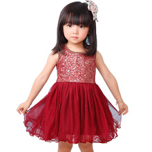 Elegant 2017 Flower Girl Dress Sequin Tops Tutu Tulle Baby Dress for Girl Toddler Children Clothing Girl Party Wear kids clothes