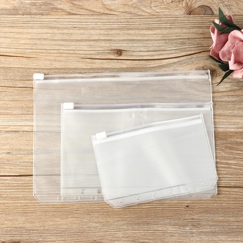1//5PCS Zipper Resealable Plastic Zip Lock Pouch Bag PVC Storage Matte Clear