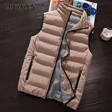 2017 Casual Vest Men Winter Sleeveless Jackets Male New Fashion Style Solid Waistcoat Men's Autumn Warm Outwear Plus Size 626(China)