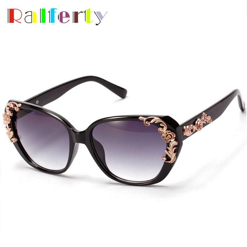 Ralferty Retro Cat Eye Carved Sunglasses Women Vintage Flower Luxury Brand Designer Sun Glasses Pink Black Gradient Shades <br><br>Aliexpress