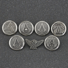 Assassins Creed Brooch Pin Abstergo Knights Templar Master Eagle Logo Badge Altair Ezio Connor Desmond Game Jewelry Wholesale