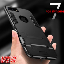 luxury cases for iphone 5 5s se 6 6s plus Case hard soft PC+TUP Case for iphone 7 7 plus Cover full body Protective Phone Shell