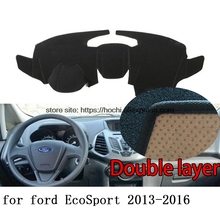 For ford Ecosport 2013-2016 Double layer Silica gel Car Dashboard Pad Instrument Platform Desk Avoid Light Mats Cover Sticker(China)