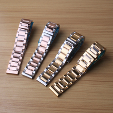 Fit Mechanical Watch Band Gold Stainless Steel Bracelet Buckle Strap Clip buckele deployment watch strap model new high quality(China)