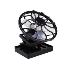 HOT Energy Saving Solar Sun Power Panel Fan Outdoor Hat Clip-on Cooler Outdoor Camping Hiking Cooling Tool Fishing Portable Fan